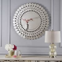 Irmgard Round Flower Wall Mirror by Christopher Knight Home - Clear - N/A