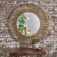 Drema Round Wall Mirror by Christopher Knight Home - Clear