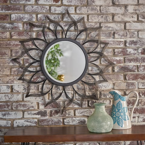 Serenidy Floral Wall Mirror by Christopher Knight Home - Clear - N/A