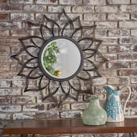 Serenidy Floral Wall Mirror by Christopher Knight Home - Clear