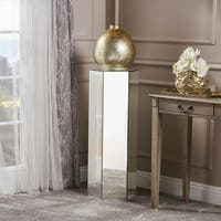 Maridel Mirrored Accent Table by Christopher Knight Home - Silver
