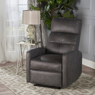 Niran Contemporary Microfiber Power Recliner by Christopher Knight Home