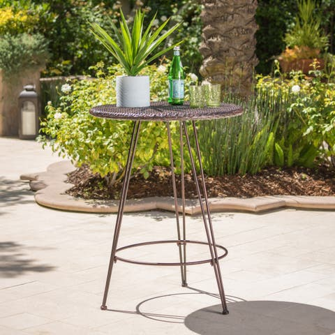 Torrey Outdoor Wicker Bar Table by Christopher Knight Home