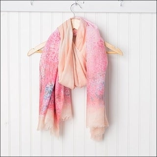 Tickled Pink Monet Lightweight Sheer Scarf - 38 x 70, Pink / Orange