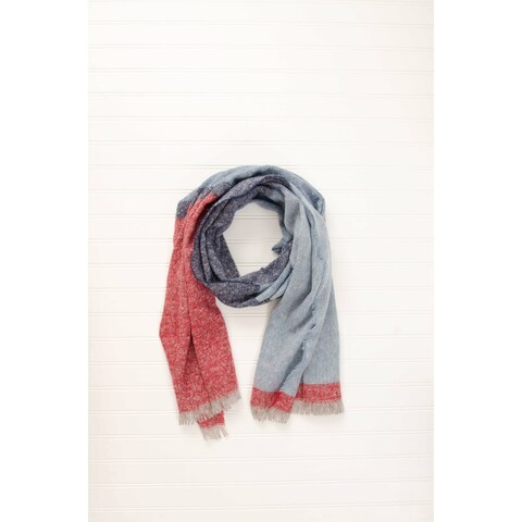 """Tickled Pink Colorblock Classic Heavyweight Scarf 20 x 70"""" - Blue"""