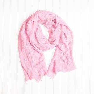 """Tickled Pink Lightweight Summer Scarf- 38 x 70"""", Light Pink"""