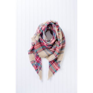 "Tickled Pink Bountiful Heavyweight Blanket Plaid 55 x 55"" - Beige https://ak1.ostkcdn.com/images/products/17338960/P23583547.jpg?_ostk_perf_=percv&impolicy=medium"