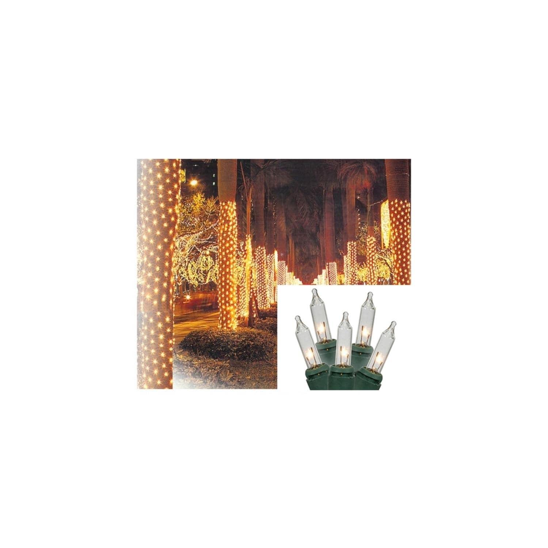 Sienna 2' x 8' Clear Twinkling Mini Christmas Net Style T...