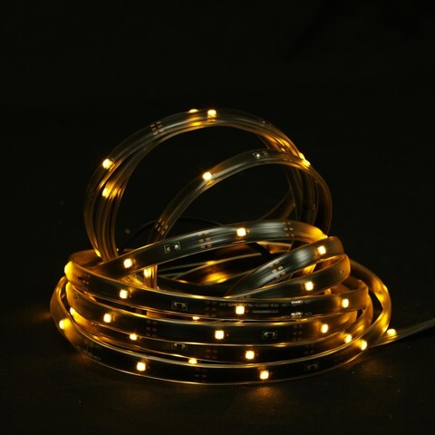 18' Amber LED Indoor/Outdoor Christmas Linear Tape Lighting - Black Finish