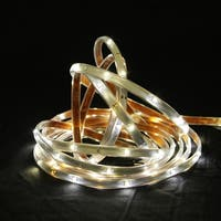 18' Pure White LED Indoor/Outdoor Christmas Linear Tape Lighting - White Finish