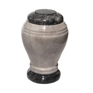 Polished Marble Decorative Cremation Urn with Lid, Cloud Gray https://ak1.ostkcdn.com/images/products/17339185/P23583768.jpg?impolicy=medium