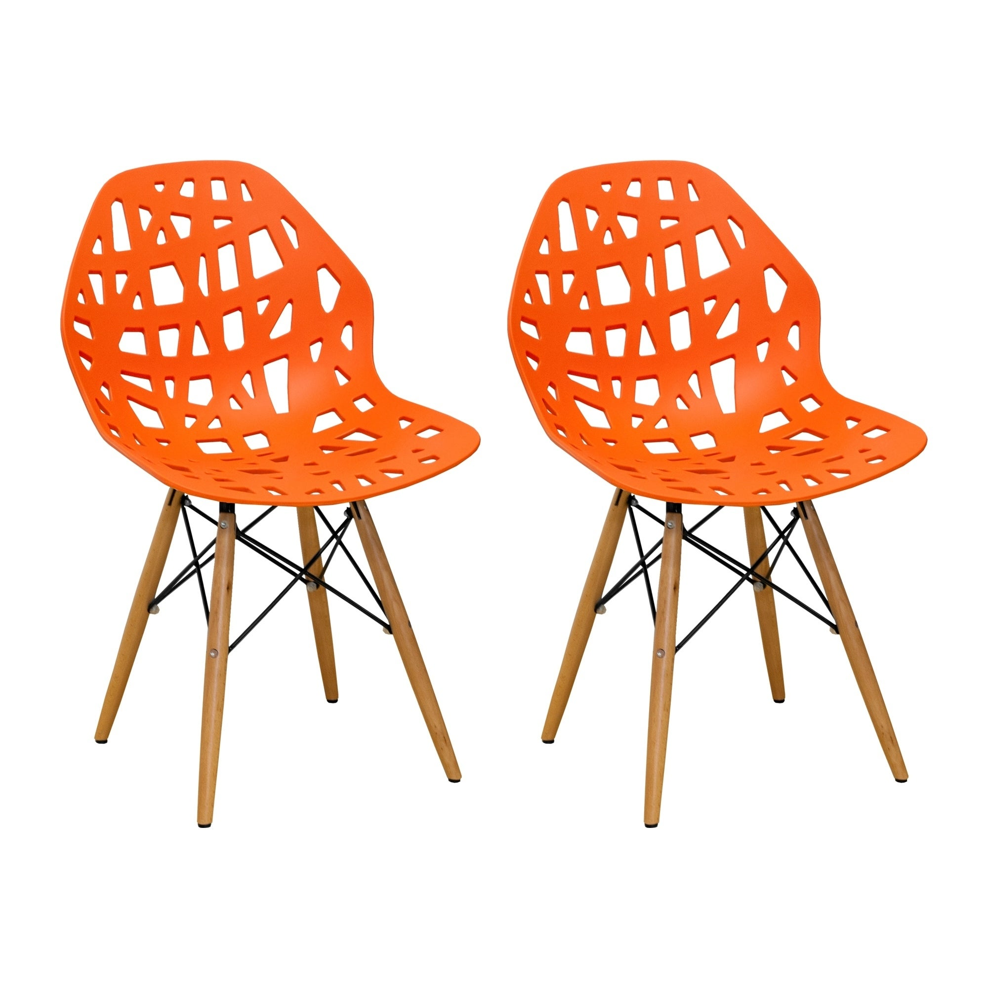 Mod Made Stencil Cut Out Eiffel Side Chair (Set Of 2) (Option: