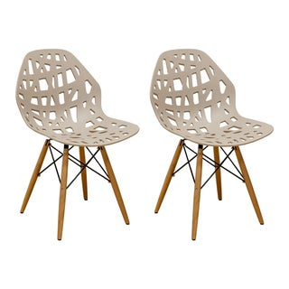 Mod Made Stencil Cut Out Eiffel Side Chair (Set of 2) (Option: Taupe)
