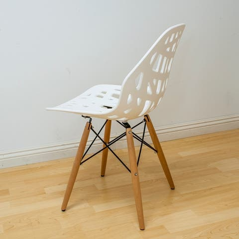 Mod Made Eiffel Stencil Cutout Side Chairs (Set of 2)