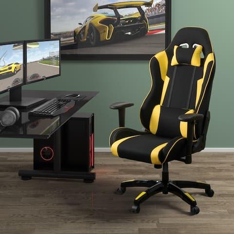 Porch & Den Roundhill High Back Ergonomic Gaming Chair