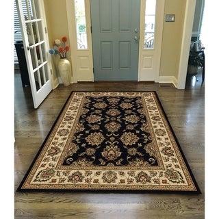 Virginia Oriental Black Area Rug (5'5 X 7'7) - 5'5 x 7'7