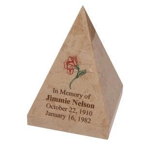 Polished Marble Decorative Keepsake Pyramid Souvenir, Desert Sand