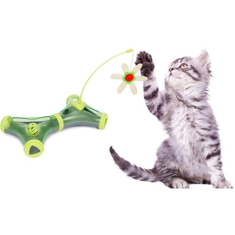 Pet Life Kitty-Tease Interactive Cognitive Training Puzzle Cat Toy