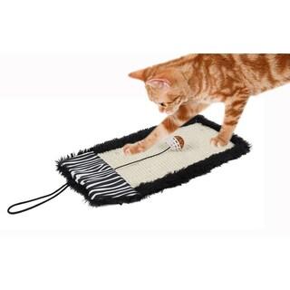 Pet Life 'Scrape-Away' Sisal And Jute Hanging Cat Scratcher With Toy