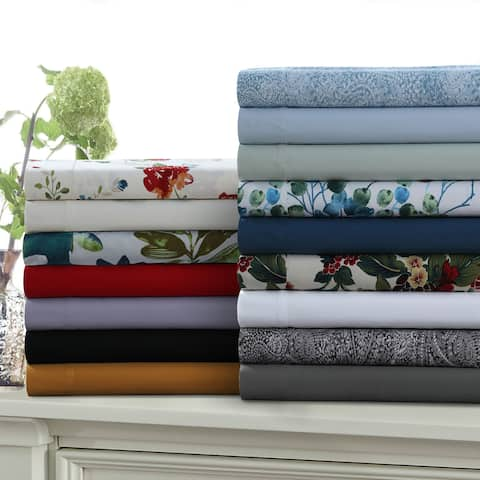 Ultra-Soft Solid or Printed Extra Deep Pocket 6-Piece Bed Sheet Set