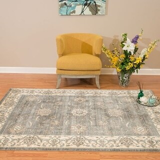 Westfield Home Royale Milagros Blue/Grey Area Rug - 5'3 x 7'10