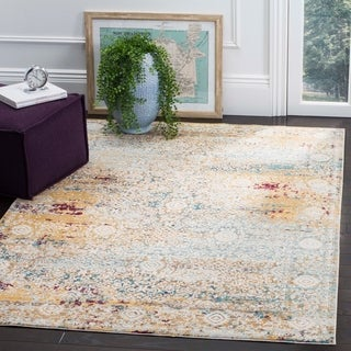 Safavieh Aria Vintage Yellow/ Cream Rug (9' x 12')