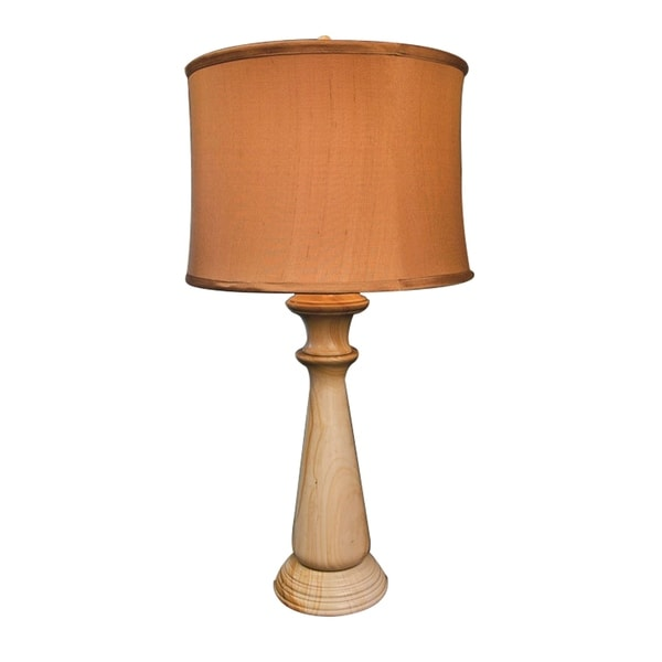 "32"" Tall Marble Table Lamp ""Tolesto"" with Linen Shade, Beige"