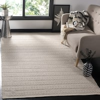 Safavieh Hand-Woven Montauk Ivory/ Grey Cotton Rug - 9' x 12'