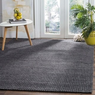 Safavieh Hand-Woven Natura Grey/ Black Wool Rug (8' x 10')