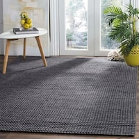 Safavieh Hand-Woven Natura Grey/ Black Wool Rug - 8' x 10'