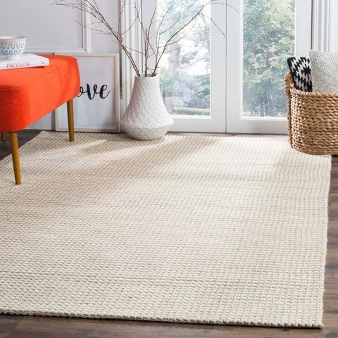 Safavieh Hand-Woven Natura Silver/ Ivory Wool Rug - 8' x 10'