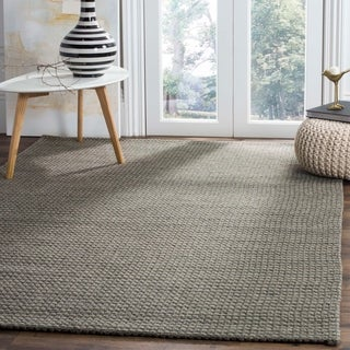 Safavieh Hand-Woven Natura Silver/ Ivory Wool Rug (8' x 10')