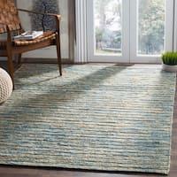 Safavieh Hand-Woven Organic Bohemian Blue/ Natural Jute Rug - 8' x 10'
