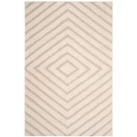 Safavieh Olympia Shag Cream/ Beige Polyester Rug - 6'7 x 9'2