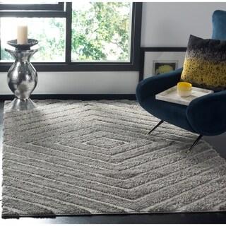 Safavieh Olympia Shag Silver Polyester Rug (6'7 x 9'2)