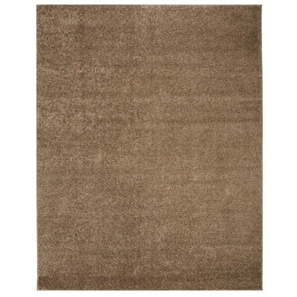 Safavieh New York Shag Dark Beige Rug (8' x 10')
