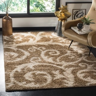 Safavieh New York Shag Beige Rug (8' x 10')