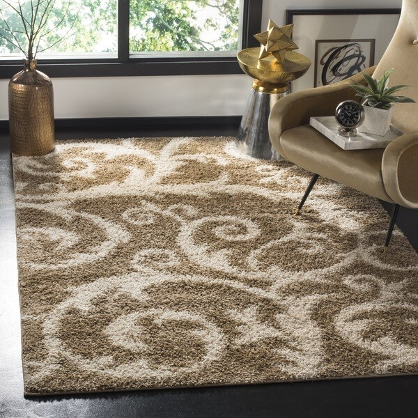 Safavieh New York Shag Beige Rug - 8' x 10'