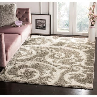Safavieh New York Shag Light Grey Rug (8' x 10')