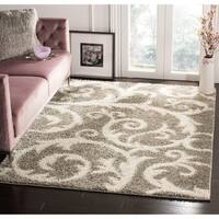 Safavieh New York Shag Light Grey Rug - 8' x 10'