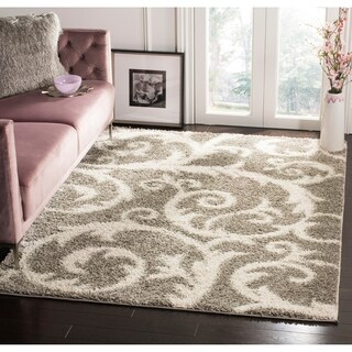 Safavieh New York Shag Light Grey Rug (9' x 12')