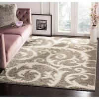 Safavieh New York Shag Light Grey Rug - 9' x 12'