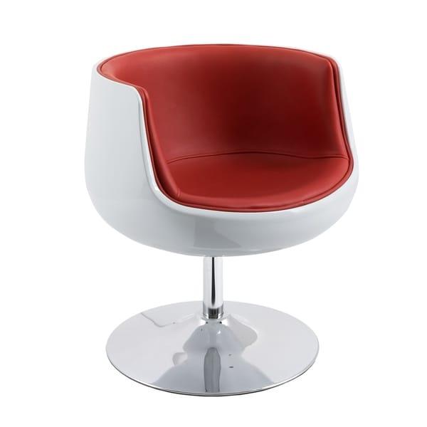 CorLiving Modern Bonded Leather Barrel Chair