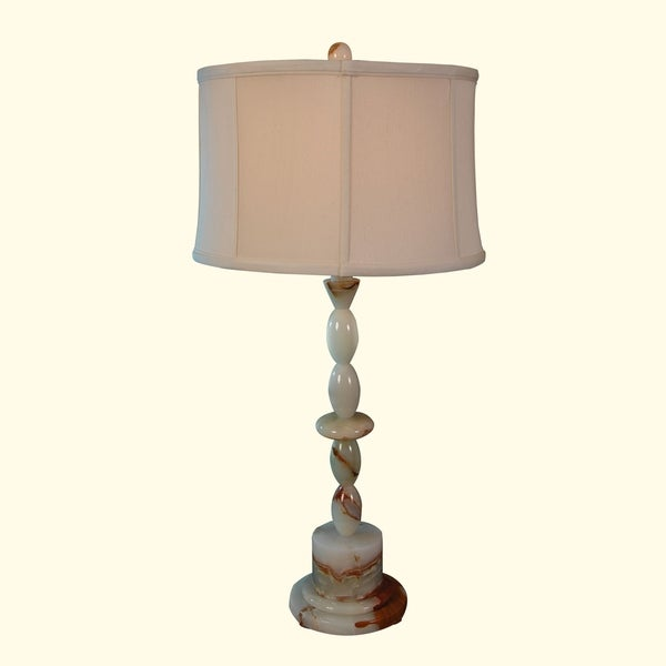"31.5"" Tall Onyx Table Lamp ""Centaur"" with Linen Shade, Chartreuse"