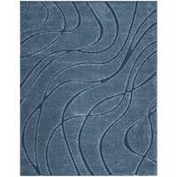 Safavieh Shag Light Blue/ Blue Rug - 8' x 10'