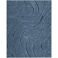 Safavieh Shag Light Blue/ Blue Rug - 8'6 x 12'