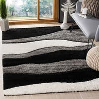 Safavieh Shag Grey/ Black Rug - 8' x 10'