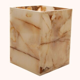 Marble Wastebasket, Orange-Brown