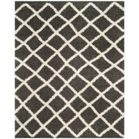 Safavieh Dallas Shag Dark Grey/ Ivory Rug - 8' x 10'