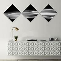 Designart 'Glittering Silver Pattern' Abstract Canvas art print - 3 Diamond Canvas Prints